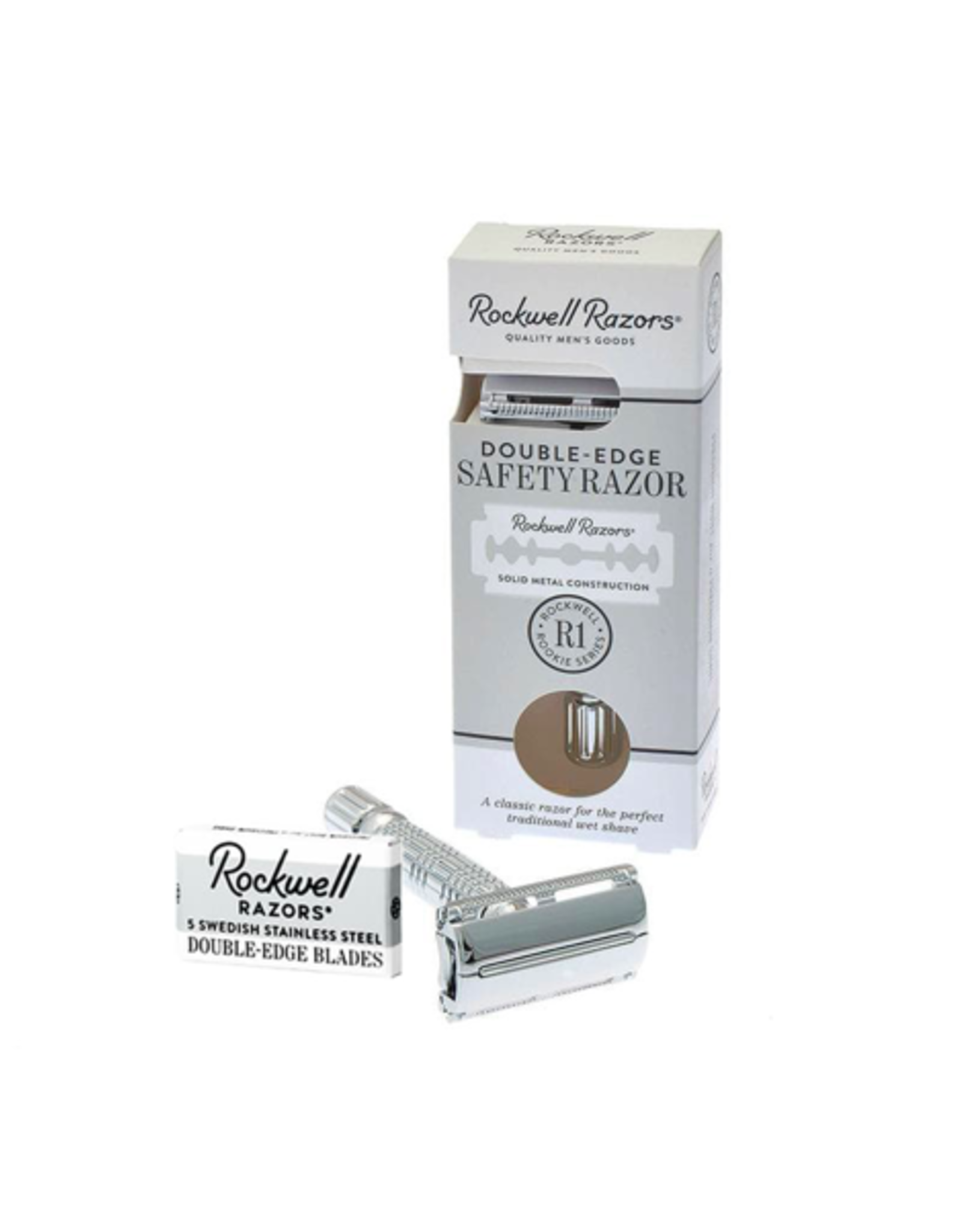PMA - Rockwell Grooming/R1 Rookie Butterfly Safety Razor, Chrome