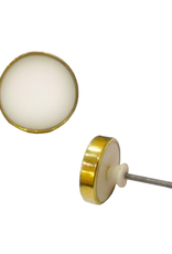 NTH - Knob / Brass, White Resin