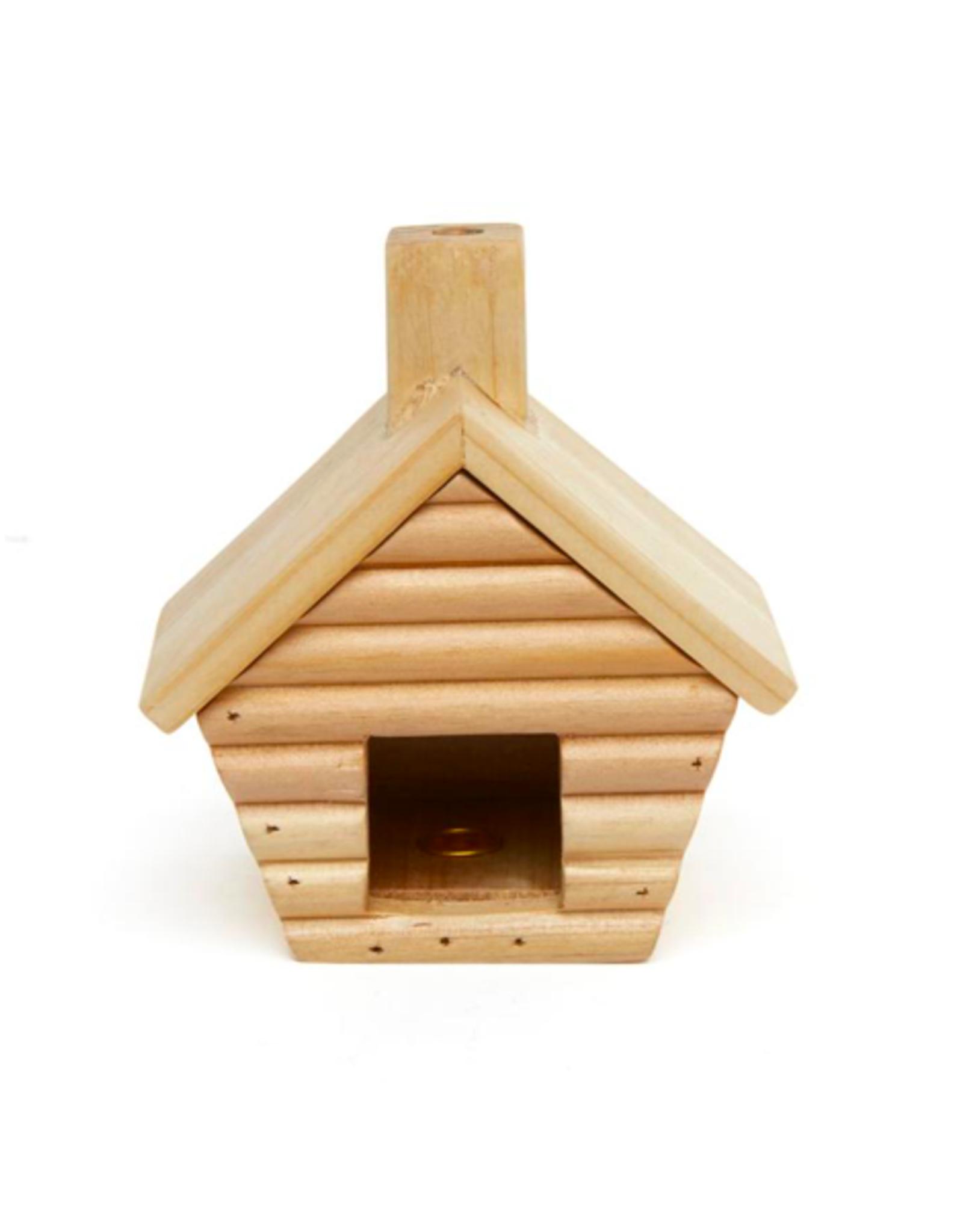 KND - Log Cabin Incense Burner & Cones / Balsam Fir