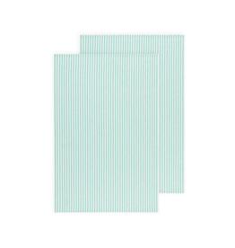 DCA - Glass Towel / Set 2, Green Stipe