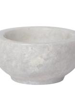 """DCA - Bowl/White Marble, 3"""""""