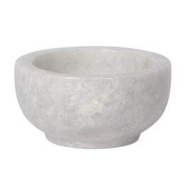 """DCA - Bowl / White Marble, 3"""""""