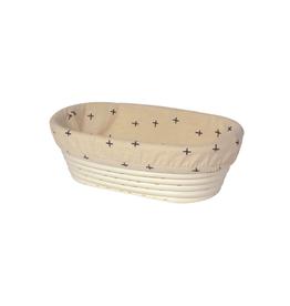 """DCA - Banneton Proofing Basket Liner / Oval, Cross, 10"""""""