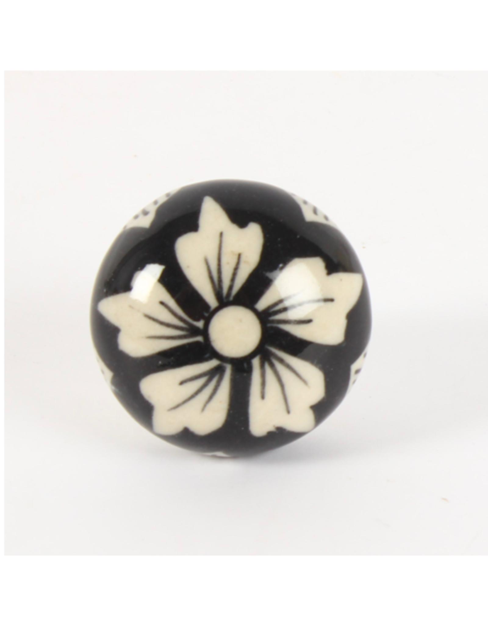 CJM - Knob / Vintage Floral, Ceramic