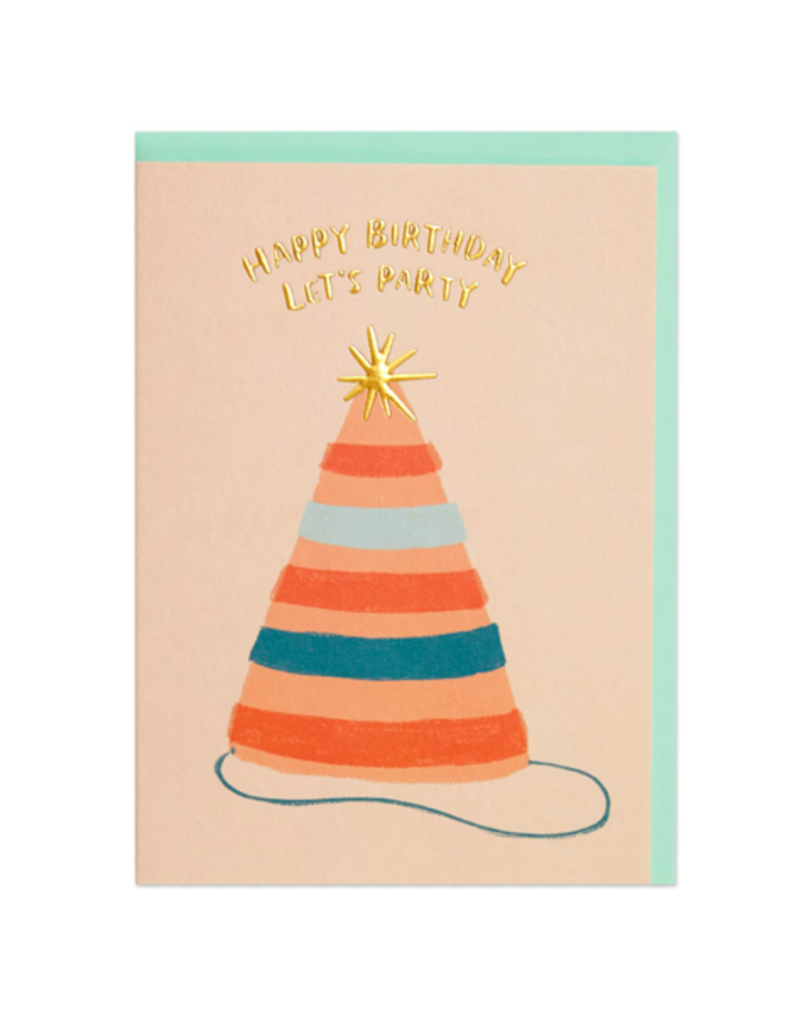 """PPS - Card / Happy Birthday Let's Party, 4.25 x 6"""""""