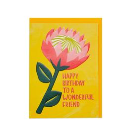"PPS - Card / Happy Birthday to a Wonderful Friend, 5 x 6.75"""