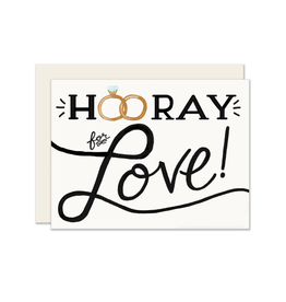 """PPS - Card / Hooray for Love, 4.25 x 5.5"""""""