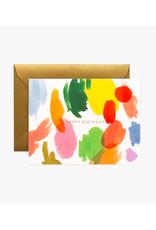 "Rifle Paper - Card / Happy Birthday, Palette, 4.25 x 5.5"""