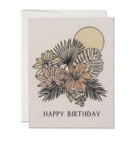 """RAP - Card / Happy Birthday, Tropical, 4.25 x 5.5"""""""