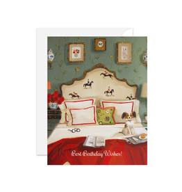 """Janet Hill - Card / Best Birthday Wishes, 4.25 x 5.5"""""""