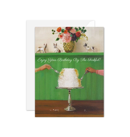 """Janet Hill - Card / Enjoy Your Birthday by the Forkful, 4.25 x 5.5"""""""