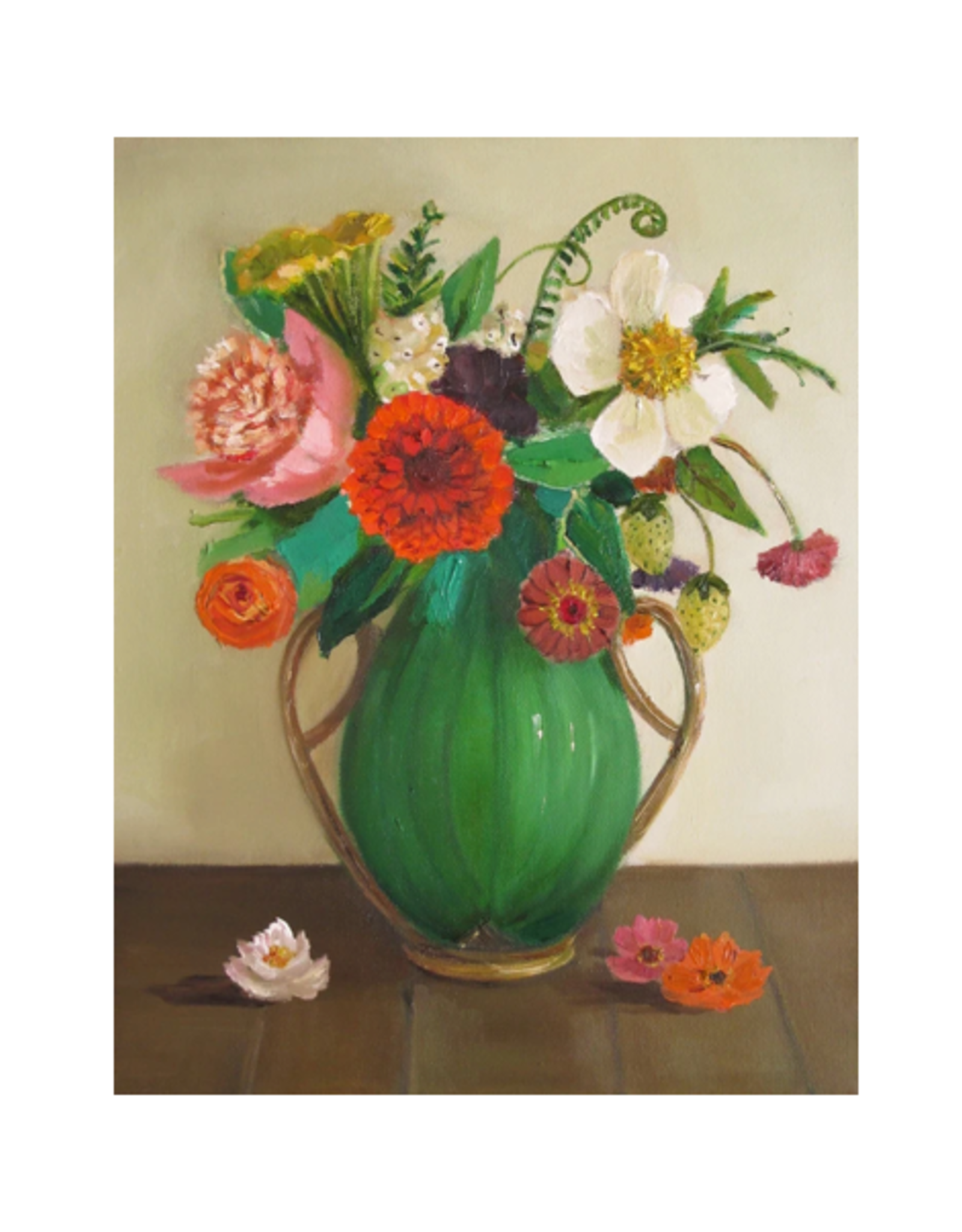 "Janet Hill - Art Print / Green Leaves, 8.5 x 11"""
