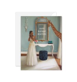 "Janet Hill - Card / Happy Birthday Beautiful, 4.25 x 5.5"""
