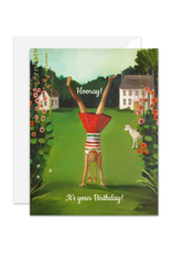 """Janet Hill - Card / Hooray! It's Your Birthday! 4.25 x 5.5"""""""