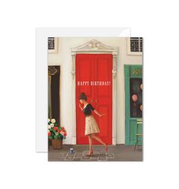 "Janet Hill - Card / Happy Birthday! Hopscotch, 4.25 x 5.5"""
