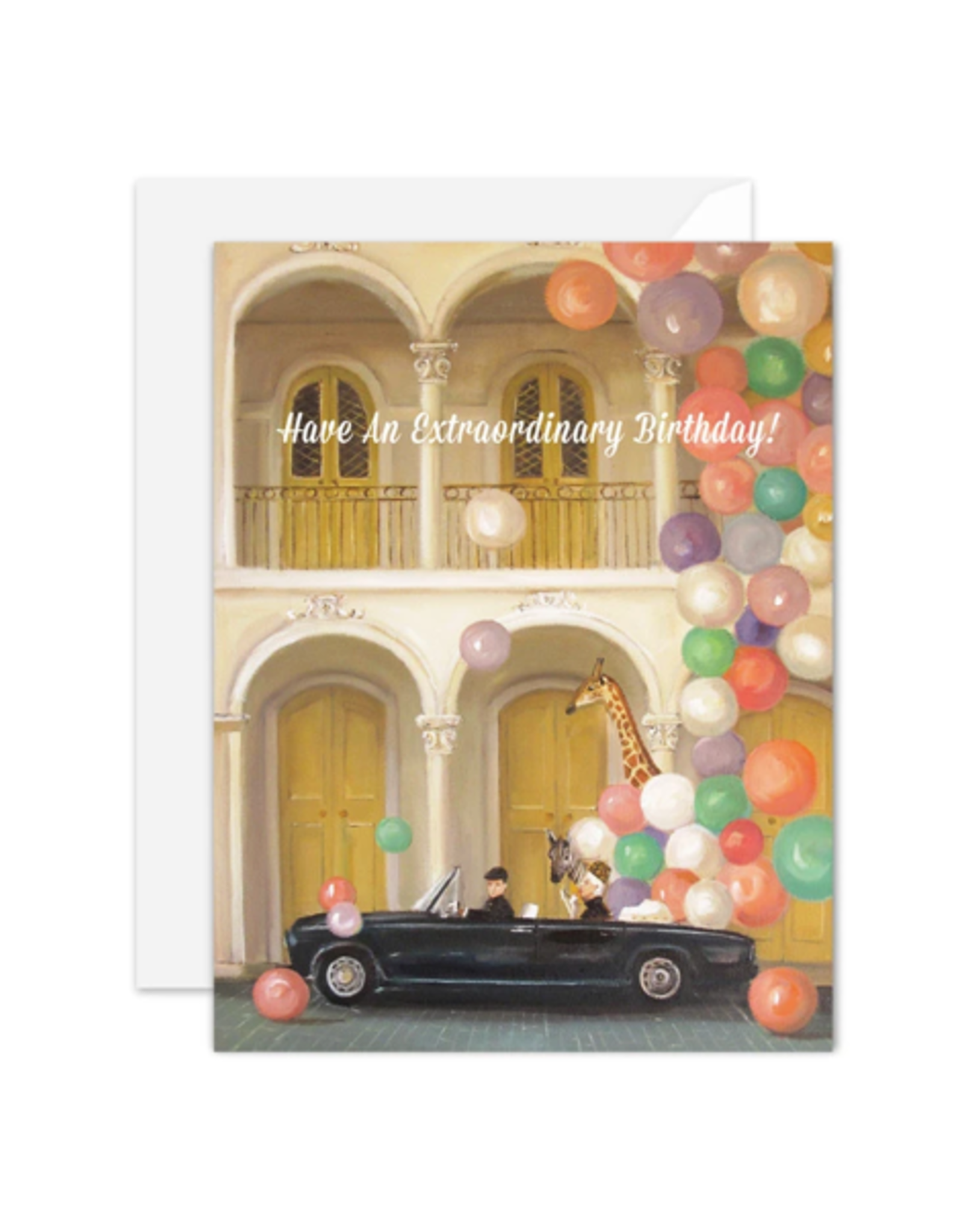 """Janet Hill - Card / Have an Extraordinary Birthday! 4.25 x 5.5"""""""