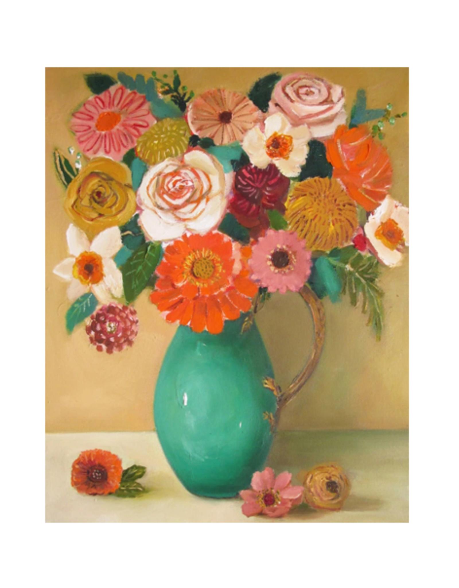 "Janet Hill - Art Print / Wheat Roses, 8.5 x 11"""