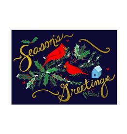 "PPS - Card / Seasons Greetings, Cardinals, 4.5 x 6.25"""