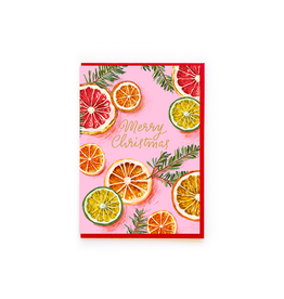 """PPS - Card / Merry Christmas, Oranges, 4.25 x 6"""""""
