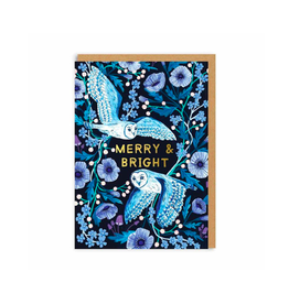 """PPS - Card / Merry & Bright, Owl, 4 x 5.75"""""""