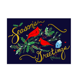 """PPS - Boxed Cards / Set of 8, Season's Greetings, Cardinal, 4.5 x 6.25"""""""