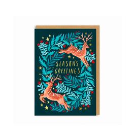 """PPS - Card / Season's Greetings, Deer, 4 x 6"""""""