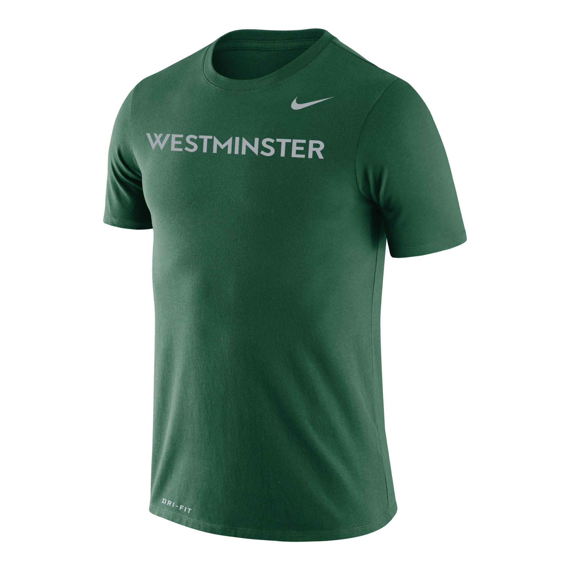 Nike T: Men's Dri-Fit Cotton SS w/silver Westminster