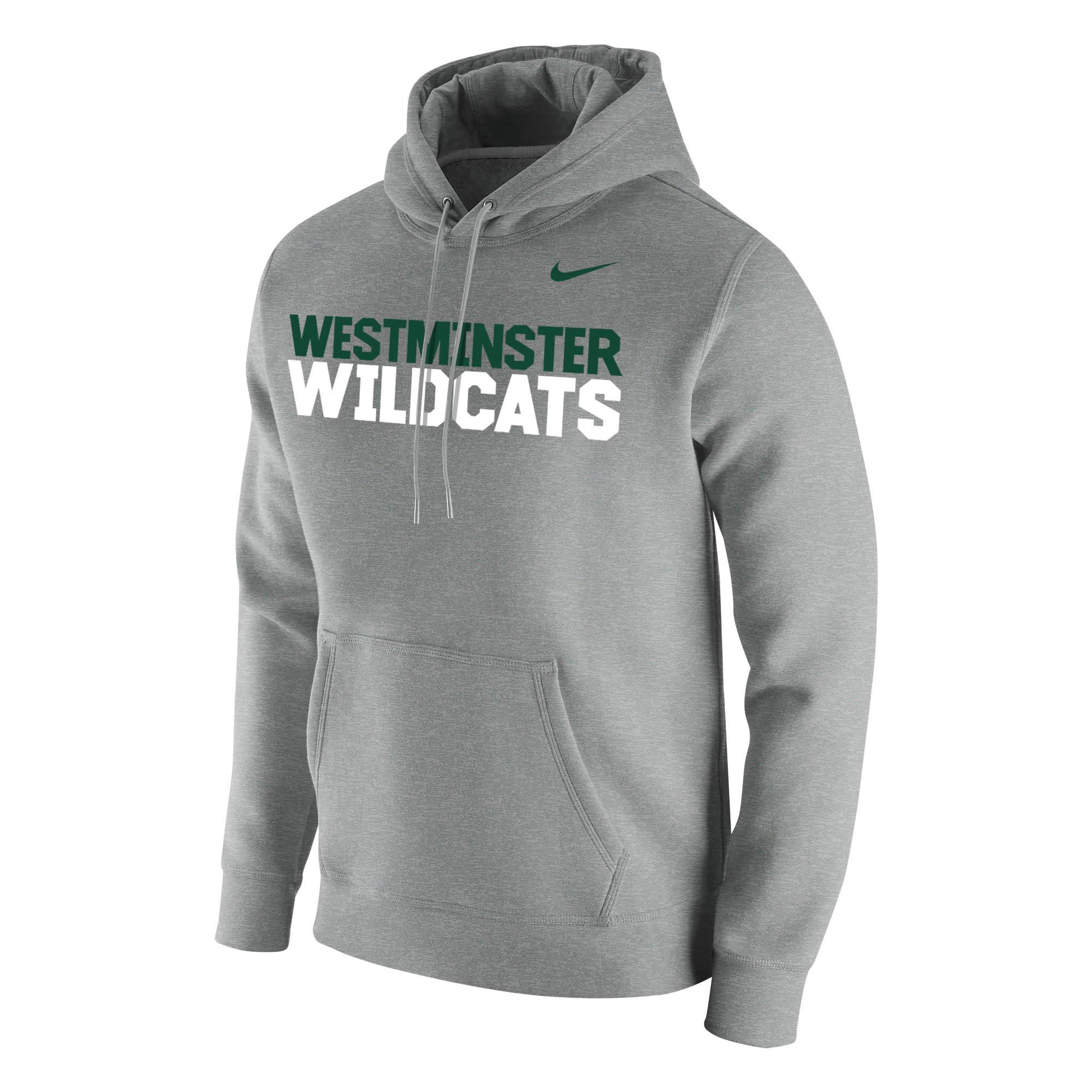 "Sweatshirt: Nike Club Fleece PO Hoody w/Dual Color ""Westminster Wildcats"""
