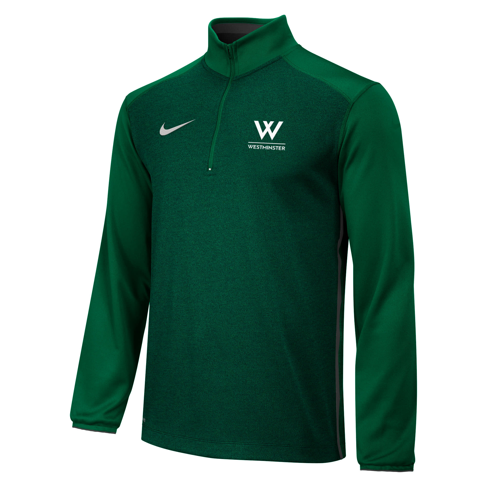 """Nike Pullover: Nike Coaches 1/2 Zip - """"W"""" over Westminster"""