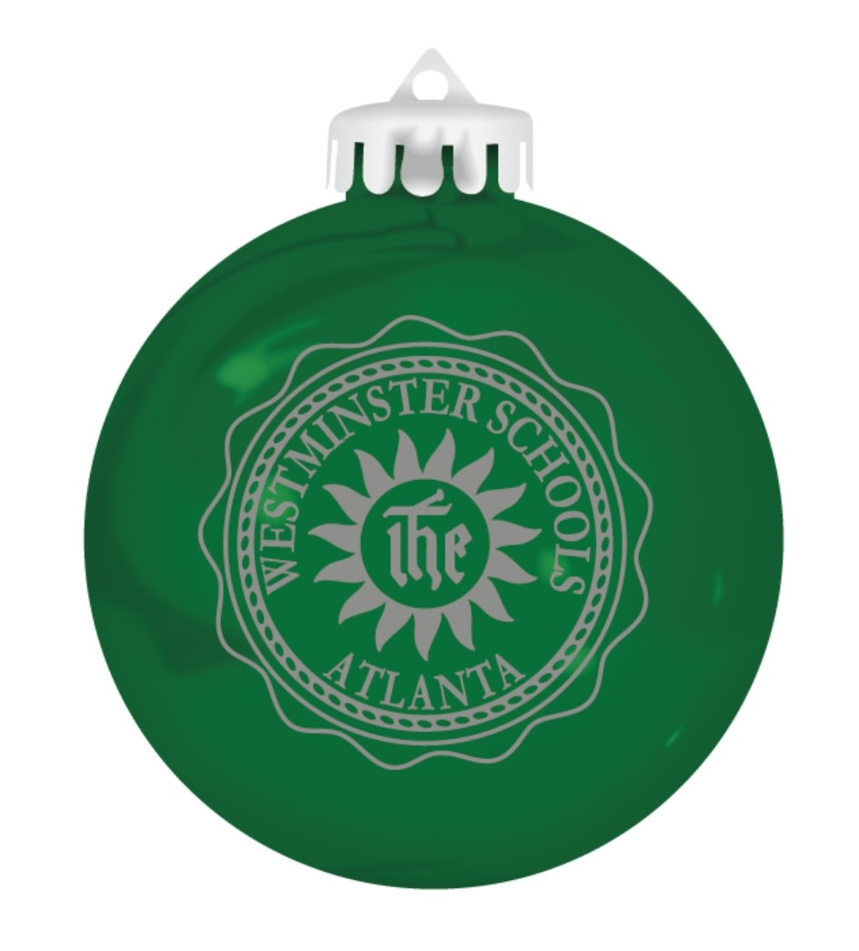 Ornament: Westminster Seal/Green