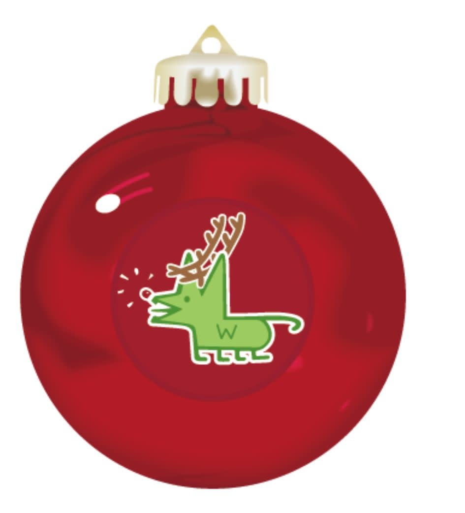 Lindsay Designs Ornament: Scoot Cat Red