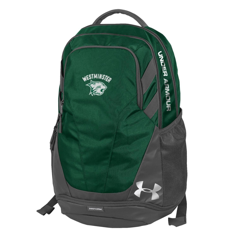 Under Armour Backpack: UA Hustle 3.0 Storm - Green Westminster