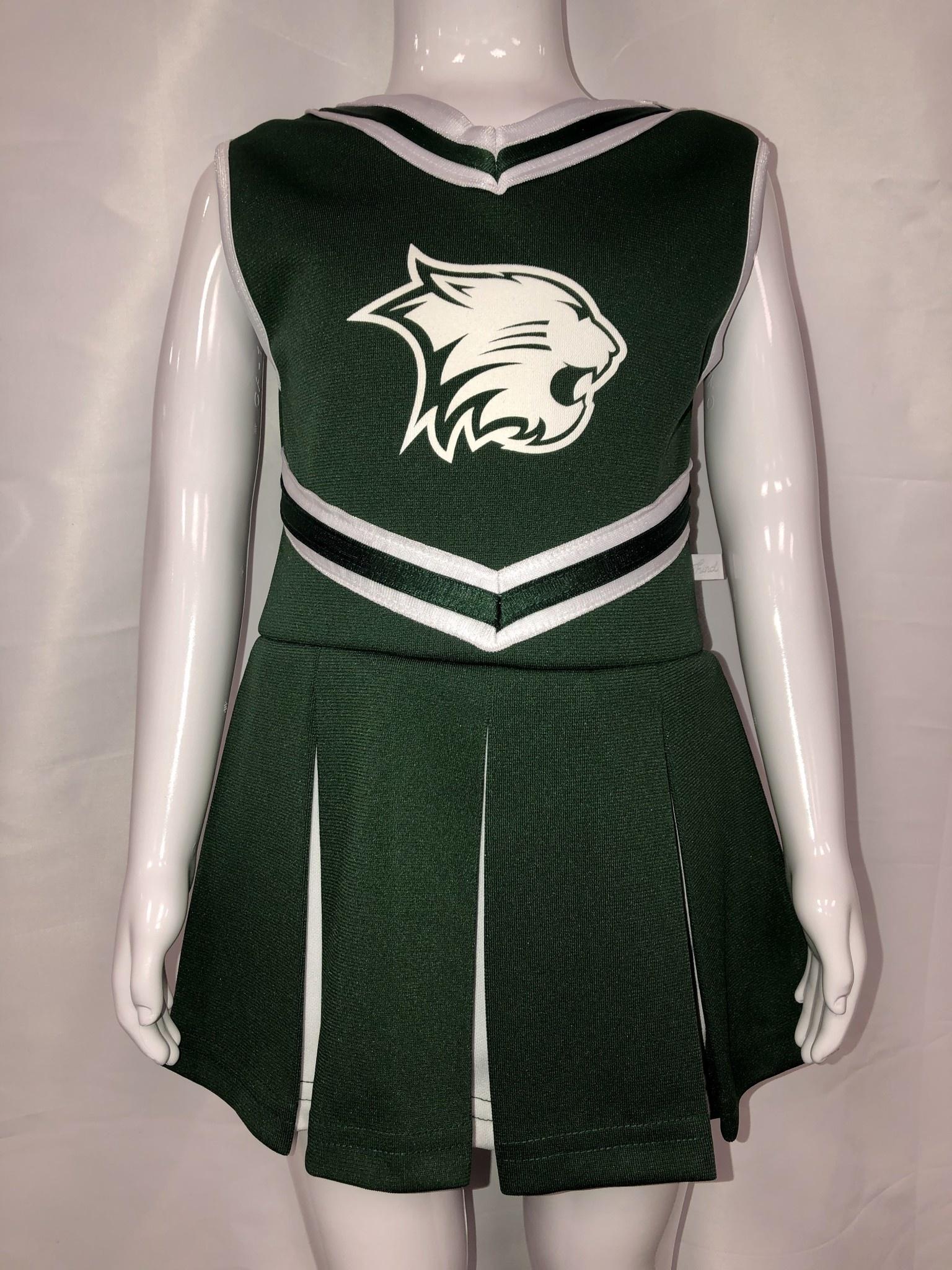 Third Street Sportswear Cheerleading Dress w/ wildcat head & Bloomer panty