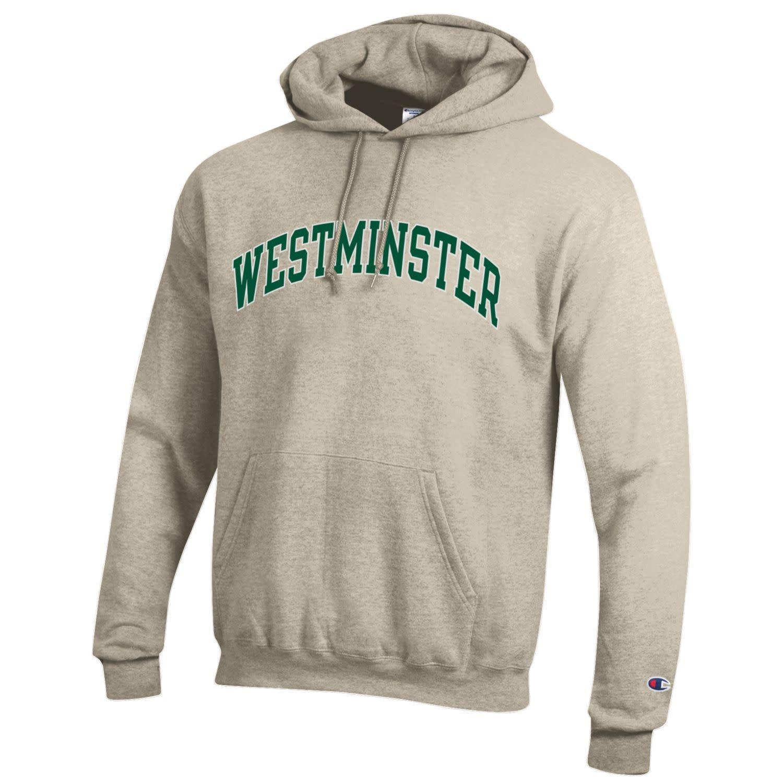 Champion Sweatshirt: Champion Oatmeal Hooded