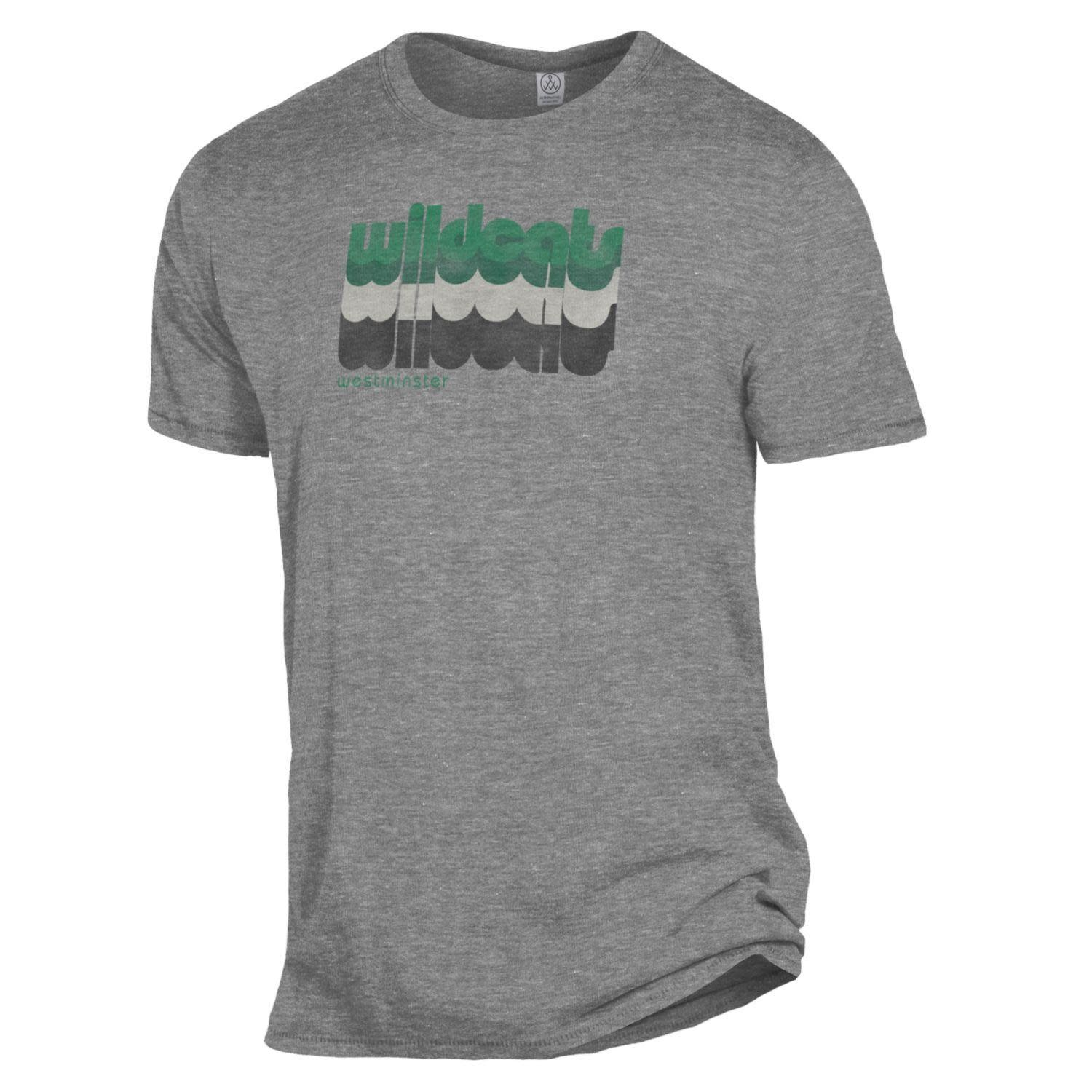 T: Alternative Brand  - Heathered Gray with Retro Wildcats