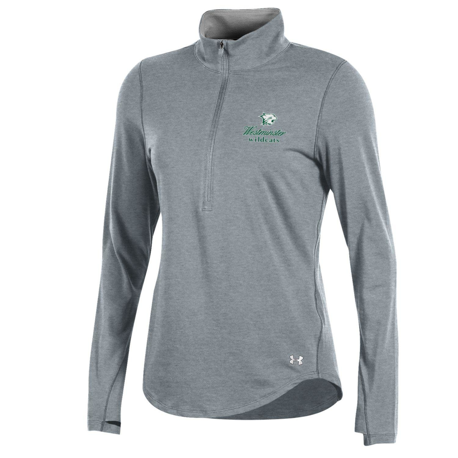 Under Armour Pullover: Women's 1/4 Zip Charged Cotton