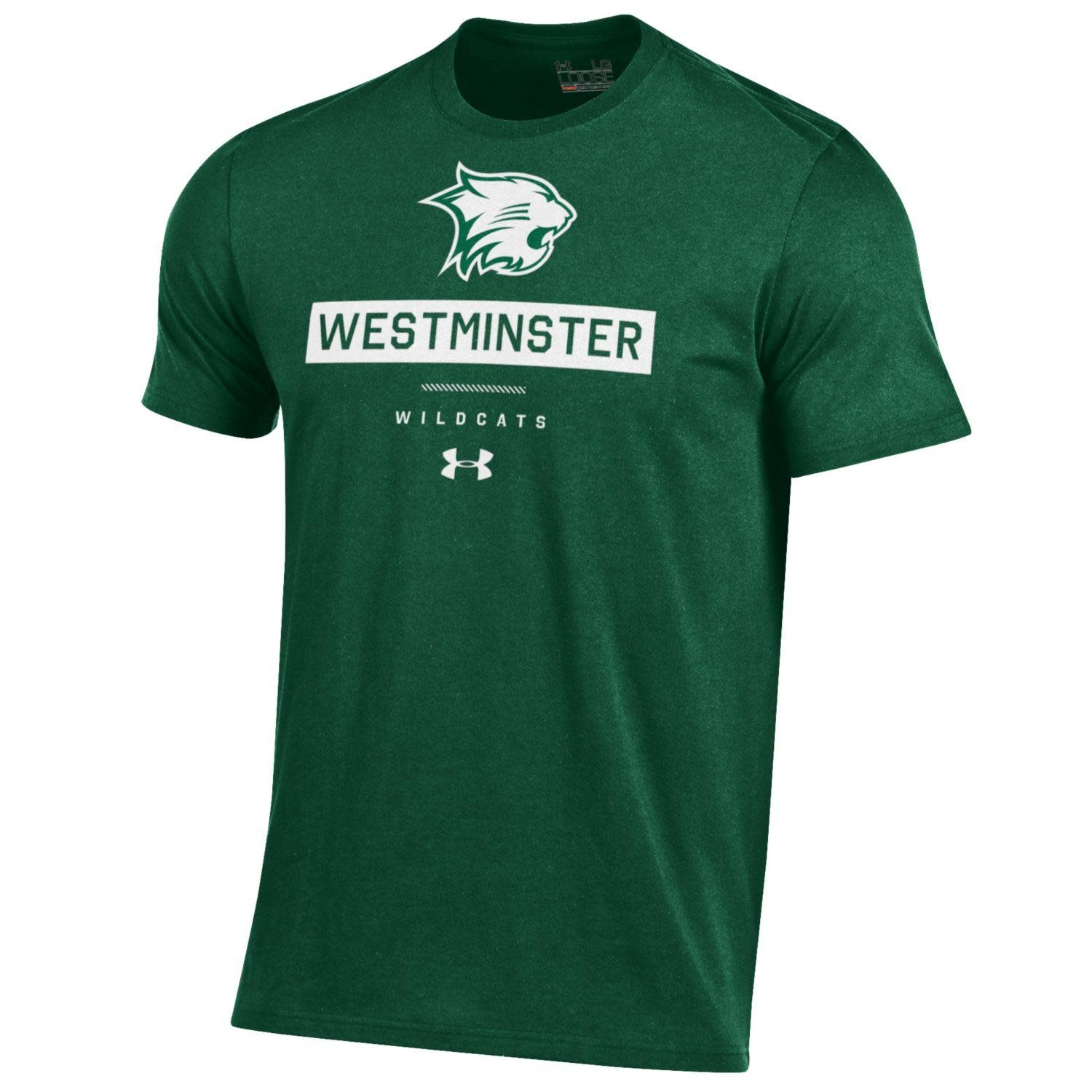 Under Armour T: UA Charged Cotton Wildcat Head over Westminster in Box
