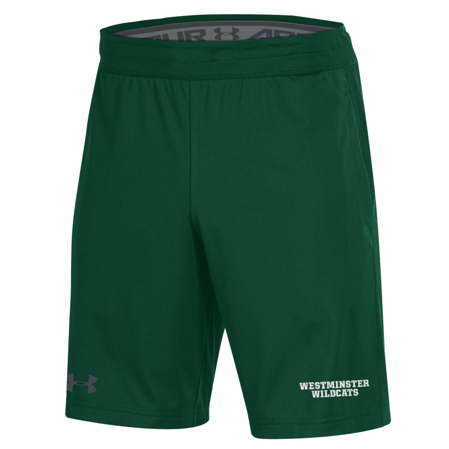 Shorts: UA Raid 2.0 Green WM Wildcats