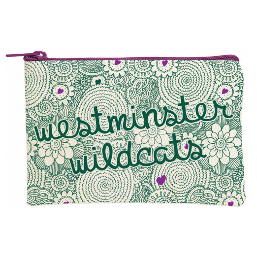 Cutie Case w/Zipper Green/Purple Westminster Wildcats