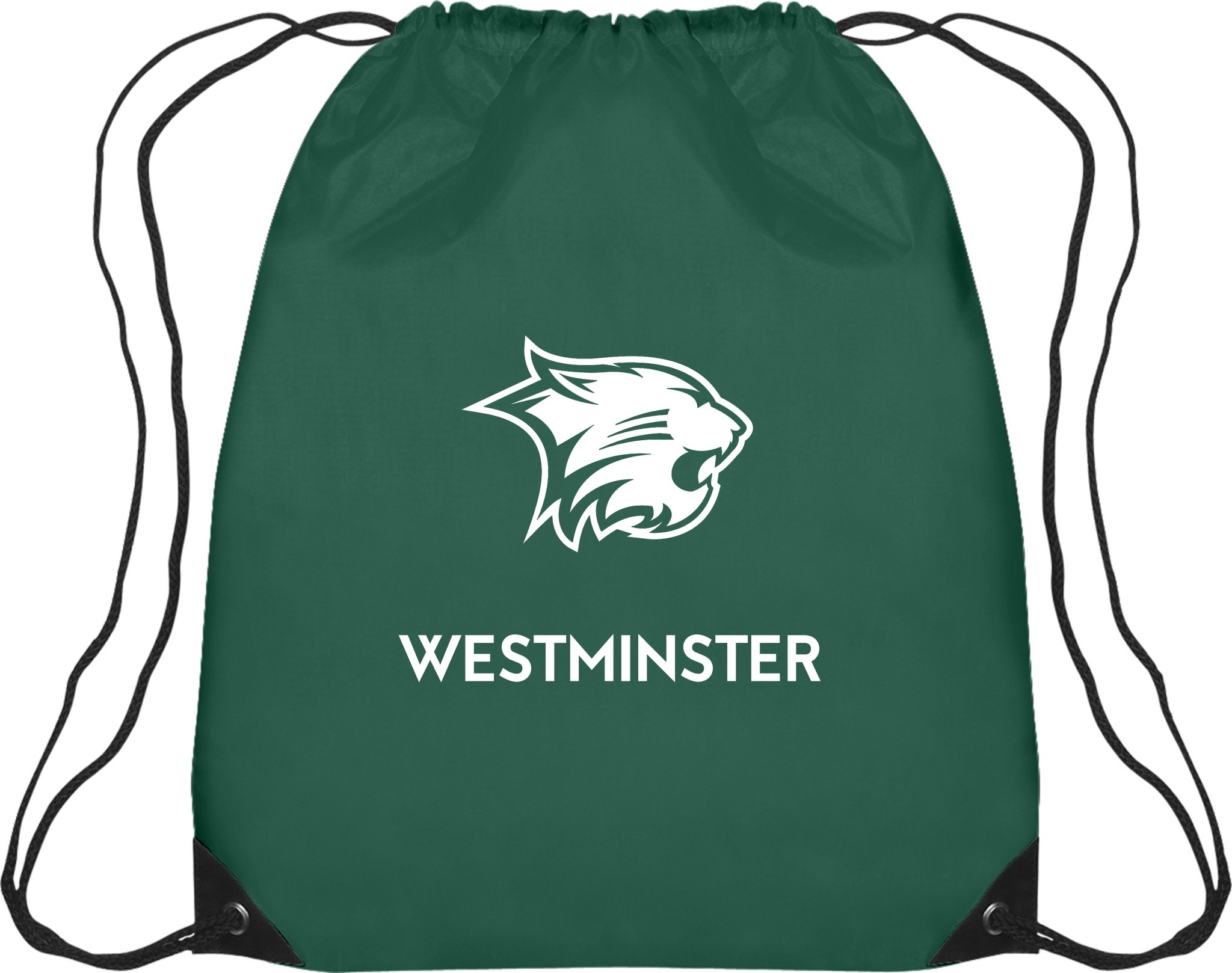 Bag: Drawstring Green Westminster Wildcat