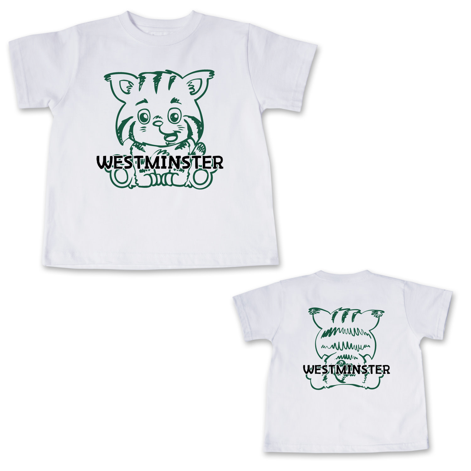 College Kids T: Toddler Short Sleeve with White Front & Back Wildcat
