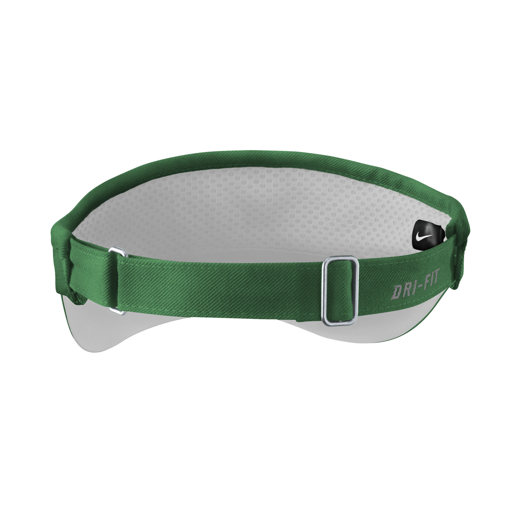 Nike Visor: Nike Sideline Visor- Green with White W