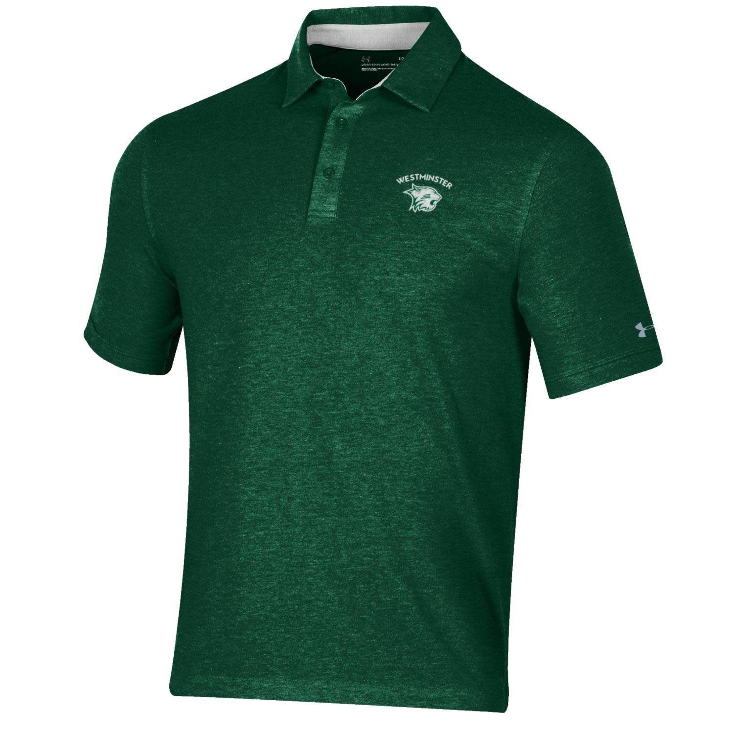 Polo: UA Charged Cotton Forest Green