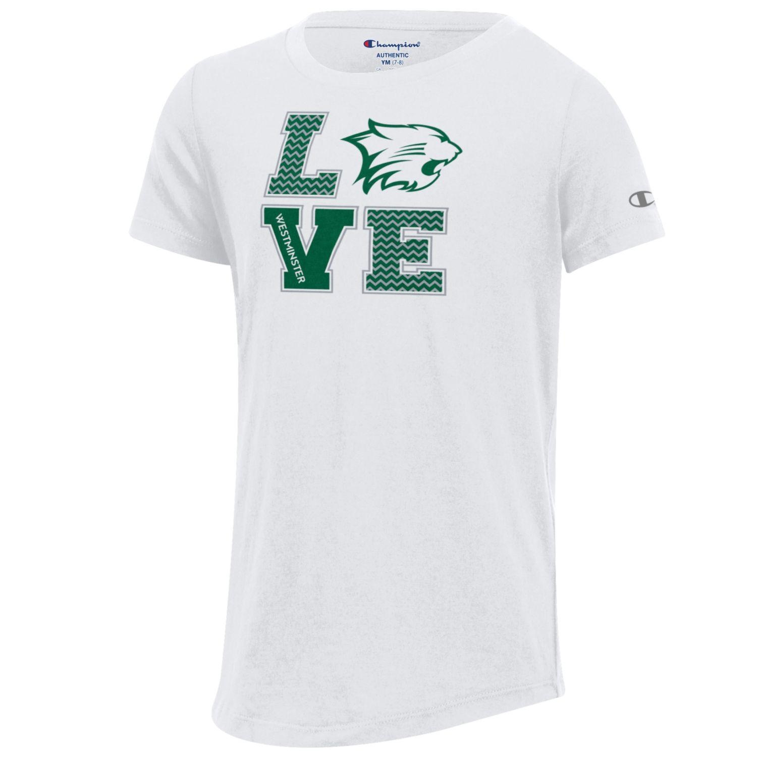 T: Champion Girls White University Scoop LOVE