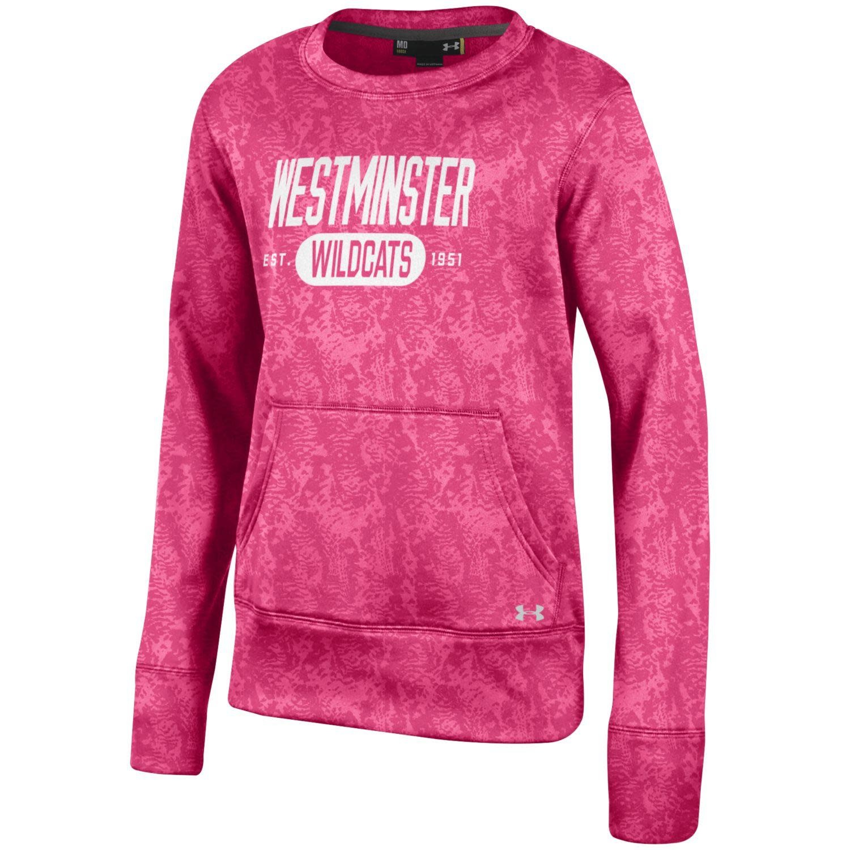 Under Armour Sweatshirt: UA Youth Pink Camo Crew