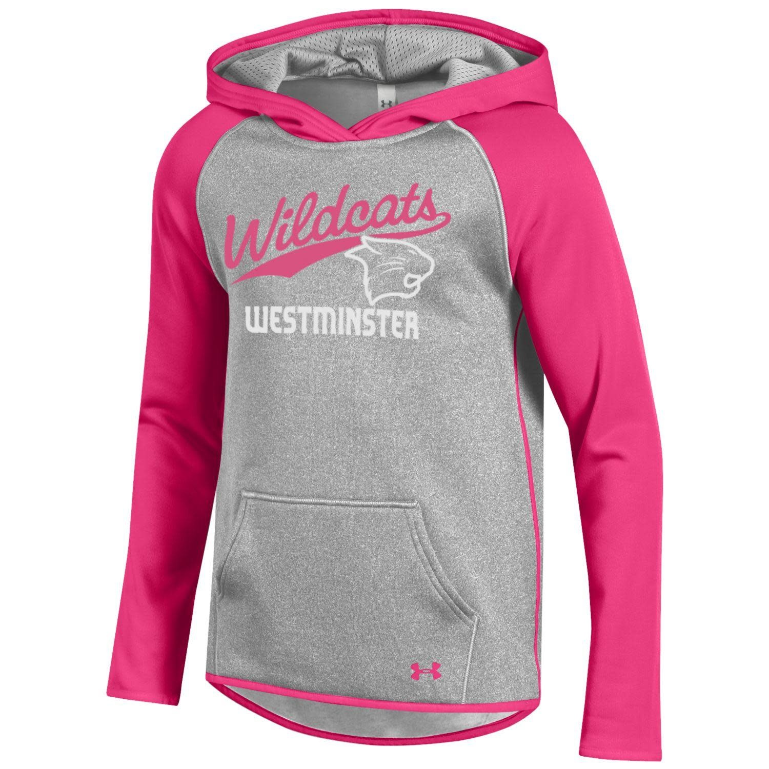 Sweatshirt: Youth UA XL Fleece Hoody Pinkadelic