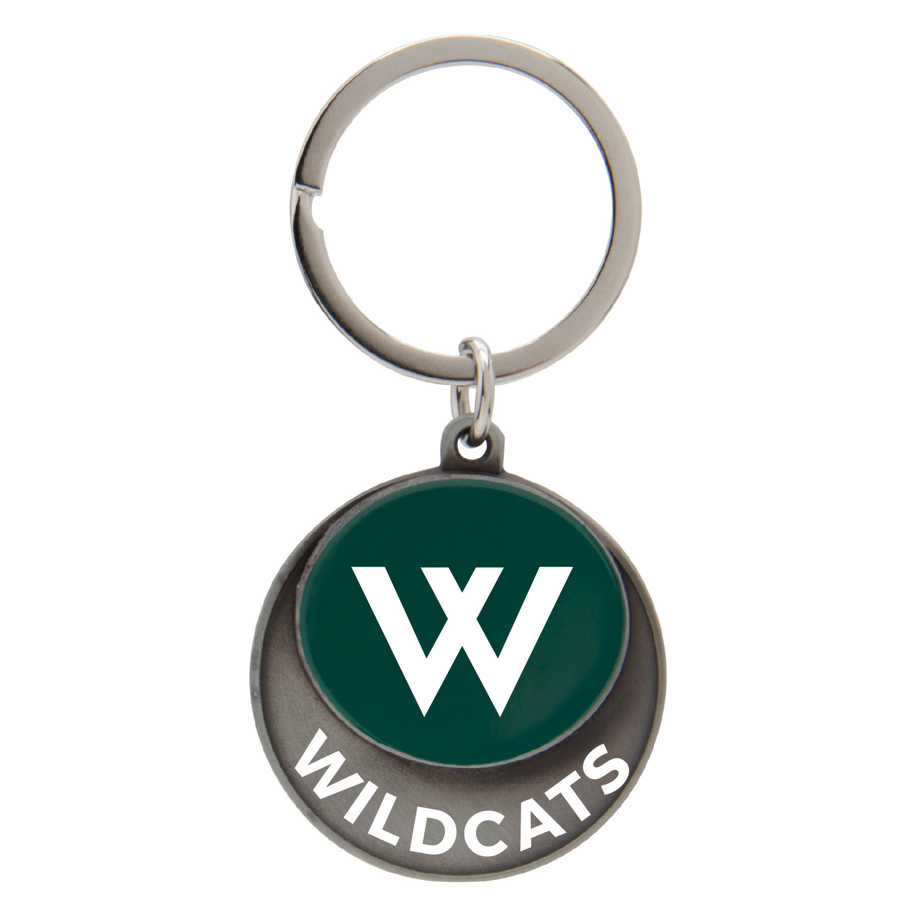 Keychain: Pewter Westminster Wildcats