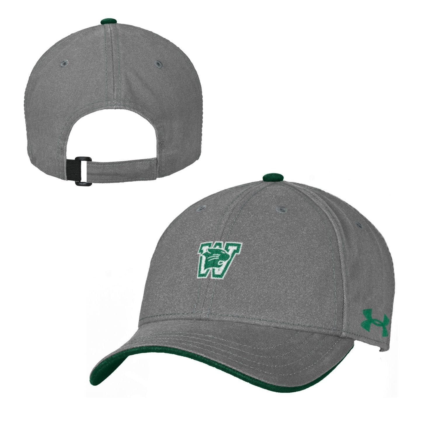 Hat: UA Youth OS Free Fit Graphite with Forest Green Button