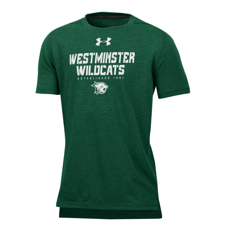 T: UA YXL Snakeskin West Wildcats over cat - Green