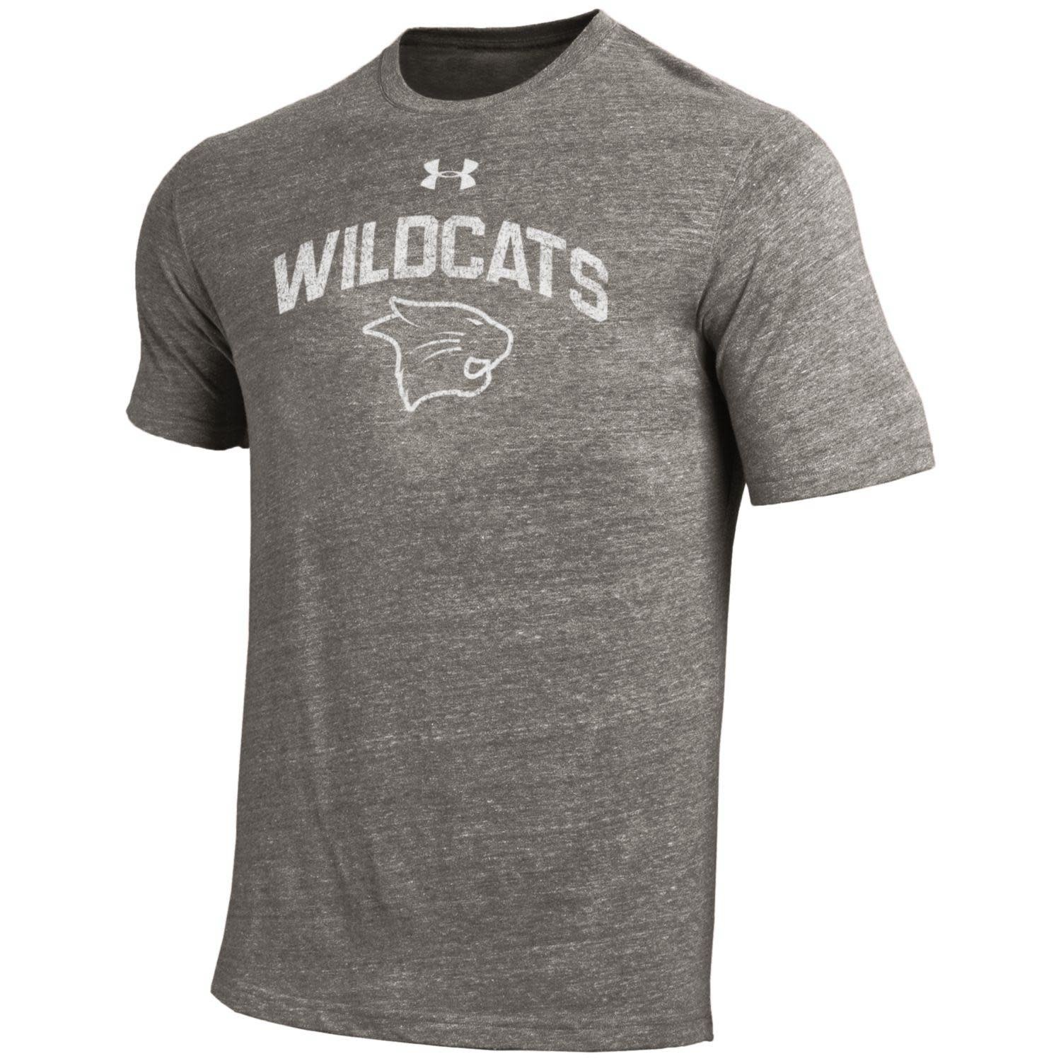 Under Armour T: UA Gray Wildcats over Logo